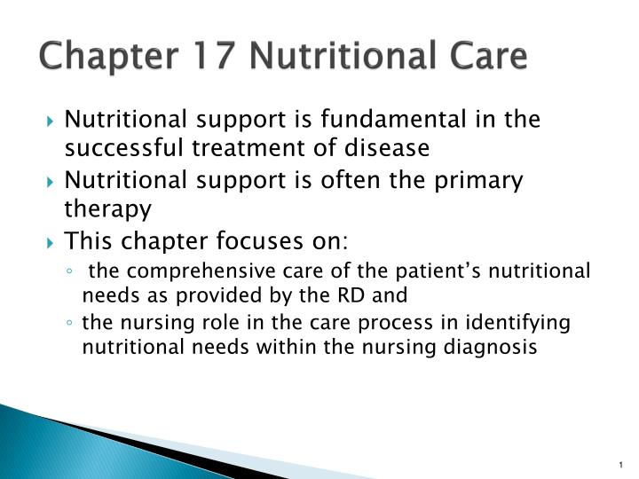 chapter 17 nutritional care n.