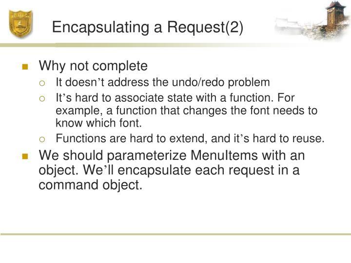 Encapsulating a Request(2)