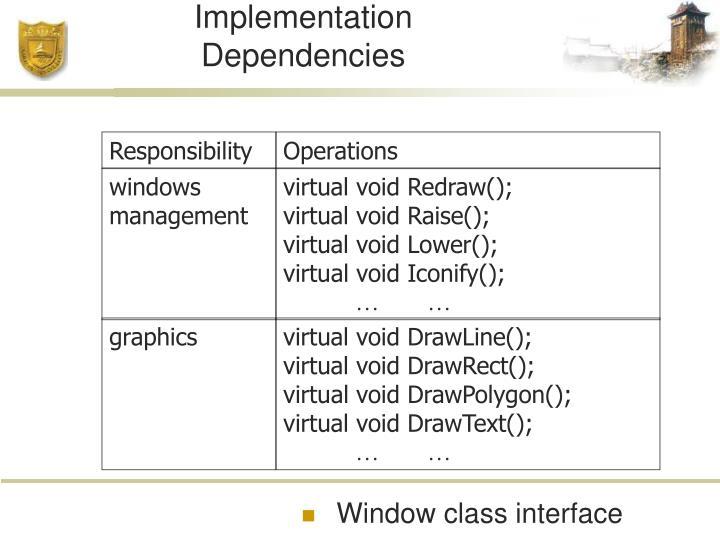 Encapsulating Implementation Dependencies