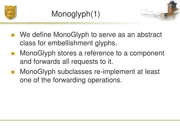 Monoglyph(1)