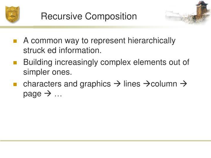 Recursive Composition