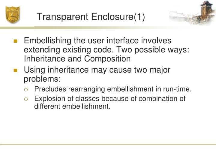 Transparent Enclosure(1)