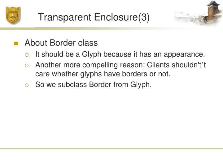 Transparent Enclosure(3)