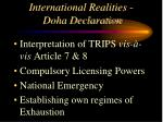 international realities doha declaration1