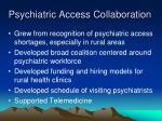 psychiatric access collaboration
