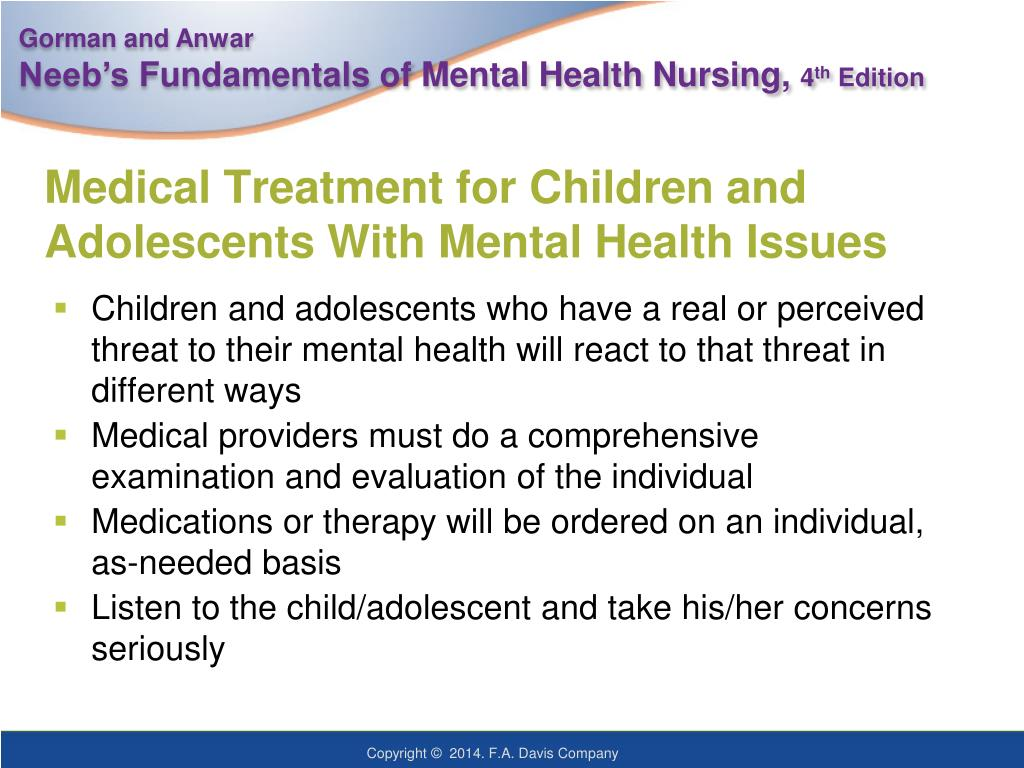 PPT - CHAPTER 19 CHILDHOOD AND ADOLESCENT MENTAL HEALTH ...