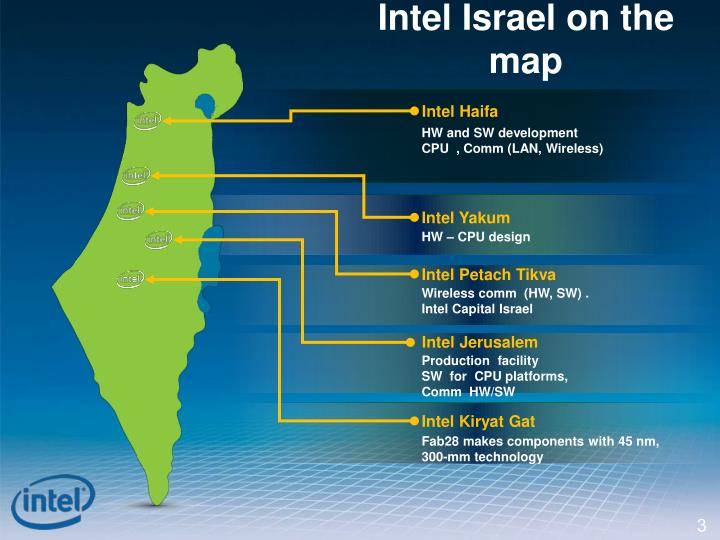 Intel Israel on the map