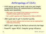 anthropology of isa s