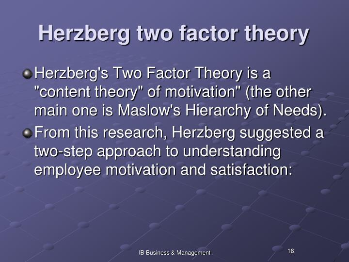 Herzberg two factor theory