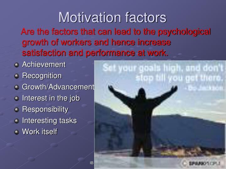 Motivation factors