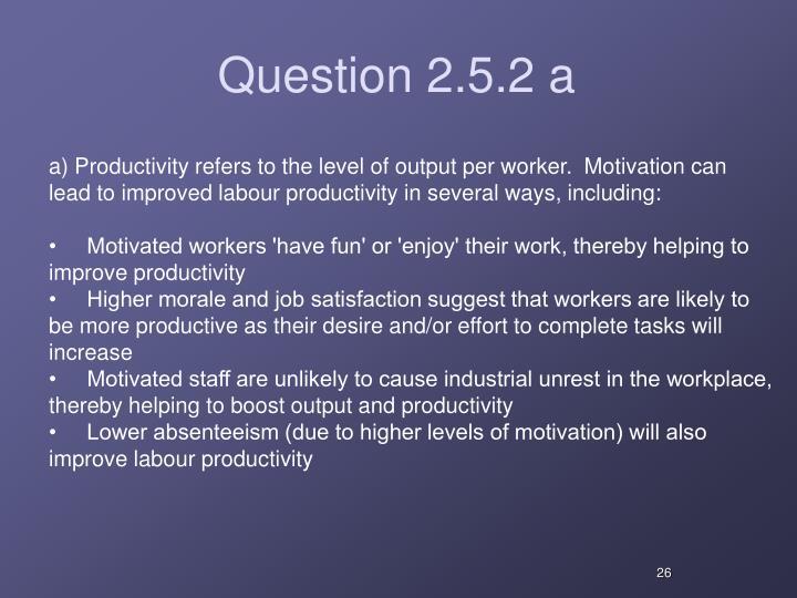 Question 2.5.2 a