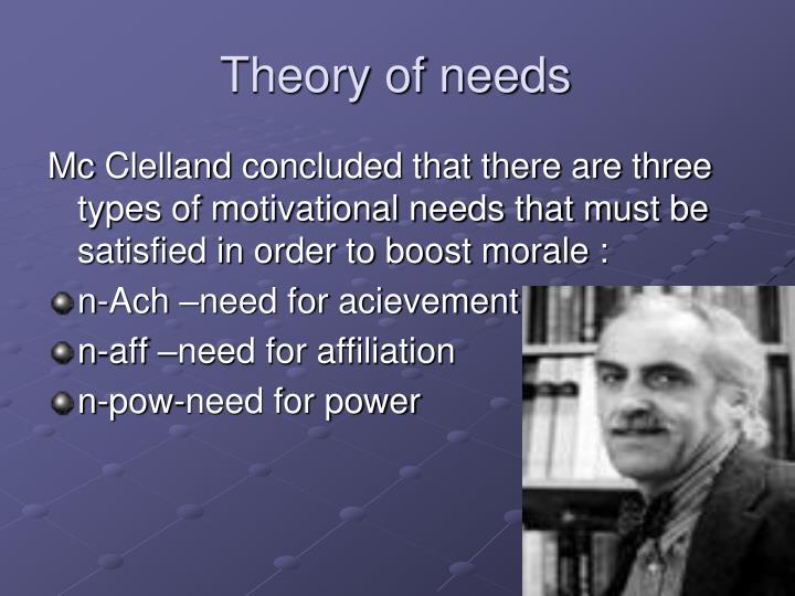 Theory of needs