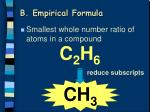 b empirical formula