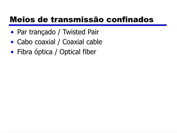 Meios de transmissão confinados