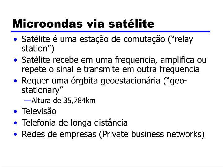 Microondas via satélite