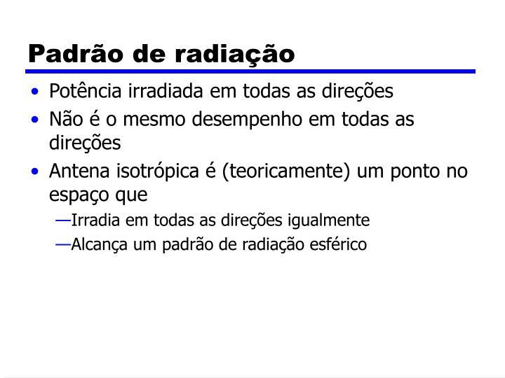 Padrão de radiação