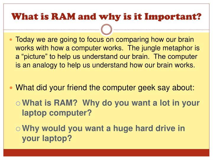 What is RAM and why is it Important?