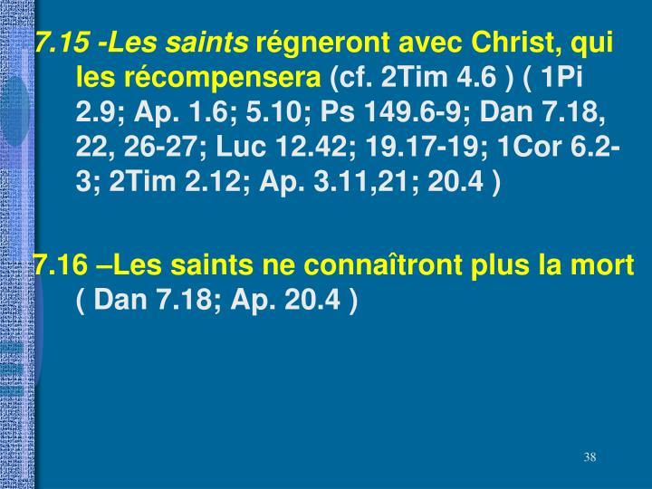 7.15 -Les saints