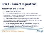 brazil current regulations