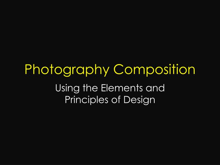 photography composition n.