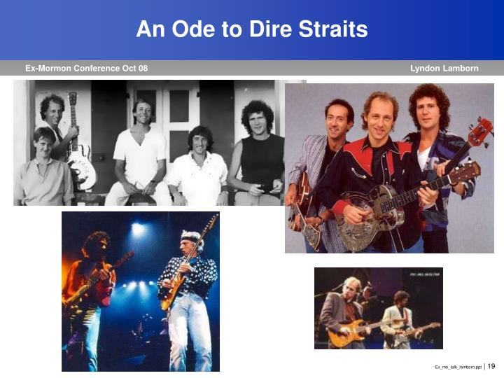 An Ode to Dire Straits