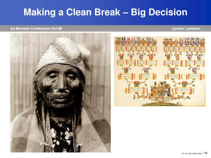 Making a Clean Break – Big Decision