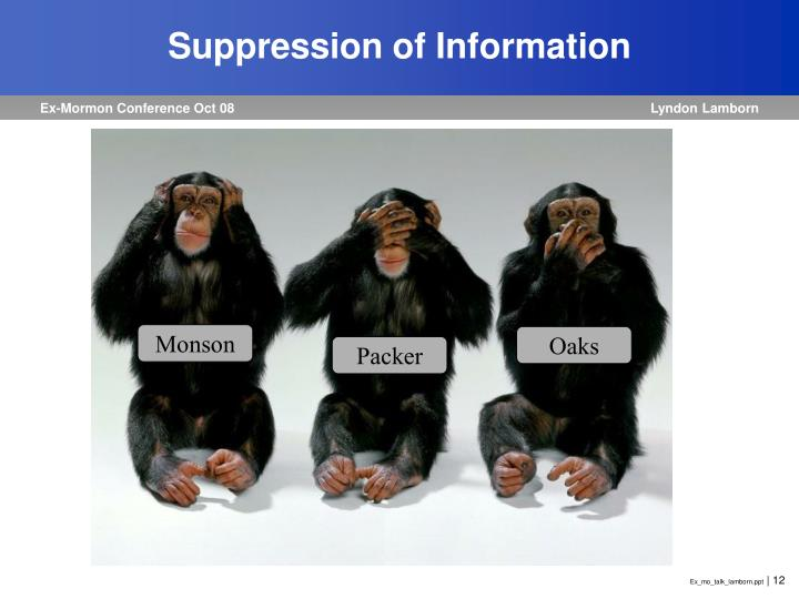 Suppression of Information