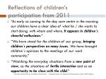 reflections of children s participation from 2011