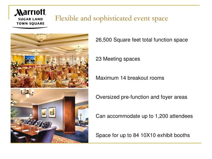 Flexible and sophisticated event space