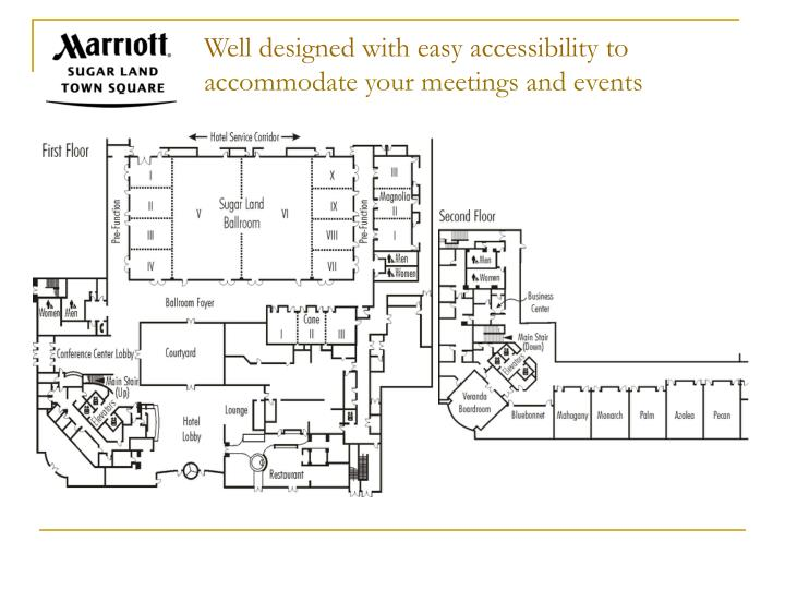Well designed with easy accessibility to