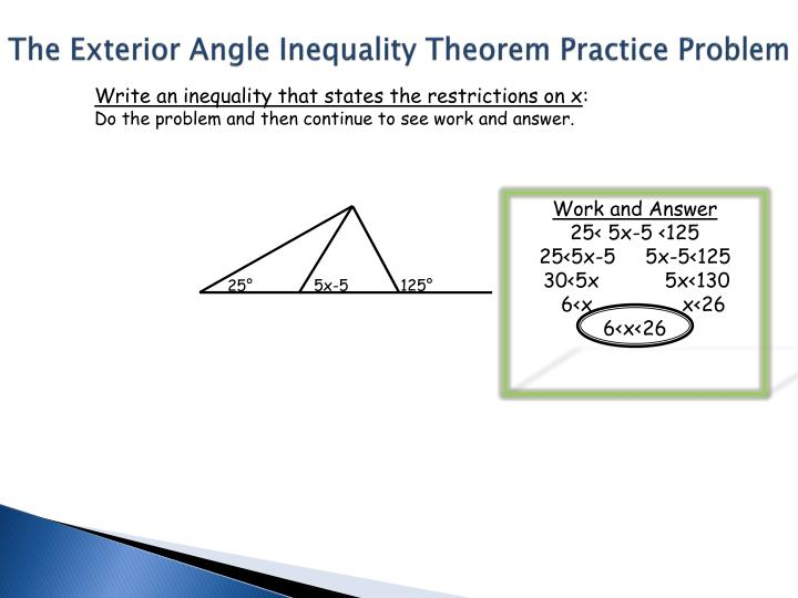 Ppt section 5 2 proving that lines are parallel - Exterior angle inequality theorem ...