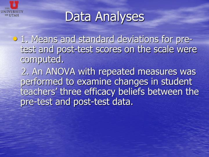 Data Analyses