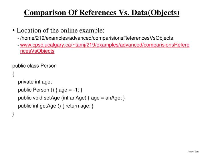 Comparison Of References Vs. Data(Objects)