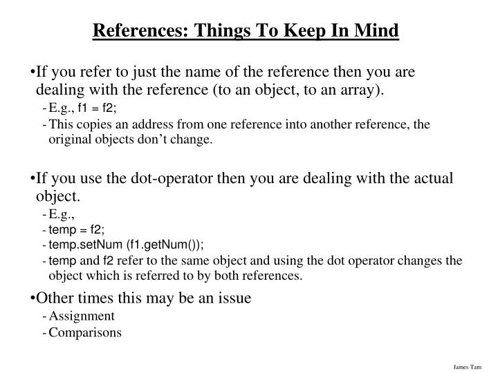 References: Things To Keep In Mind