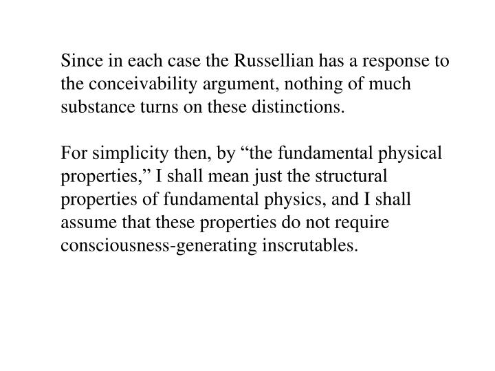 conceivability argument