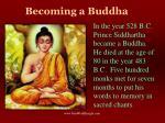 becoming a buddha