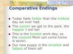 comparative endings33