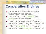 comparative endings36
