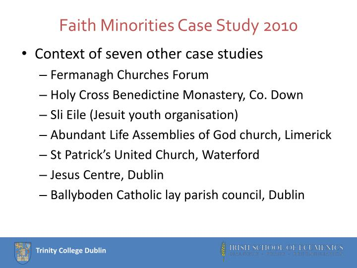 Faith Minorities Case Study 2010