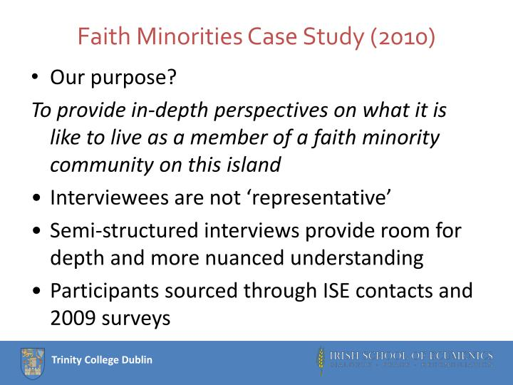 Faith Minorities Case Study (2010)