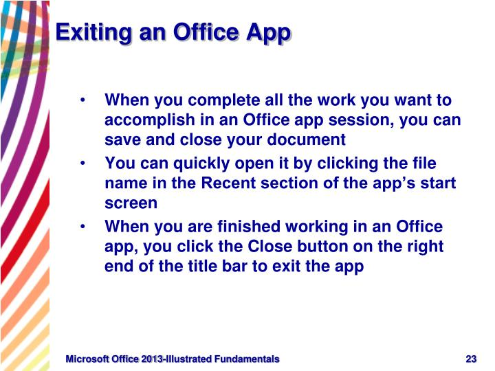 Exiting an Office App