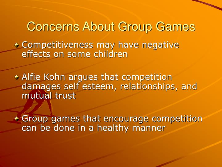 Concerns About Group Games