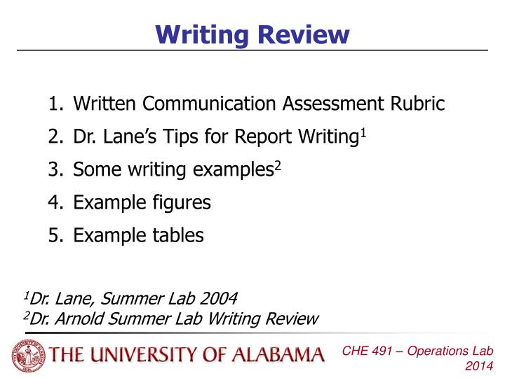 PPT - Writing Review PowerPoint Presentation - ID:6385257