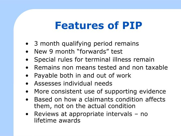 Features of PIP