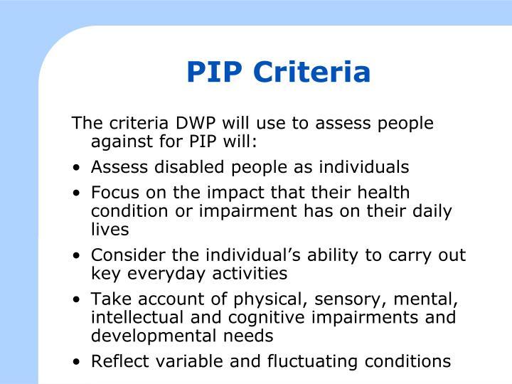 PIP Criteria