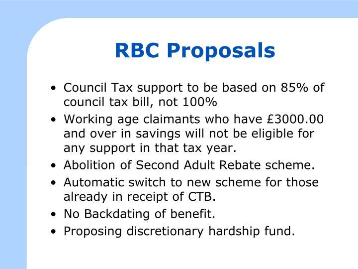 RBC Proposals