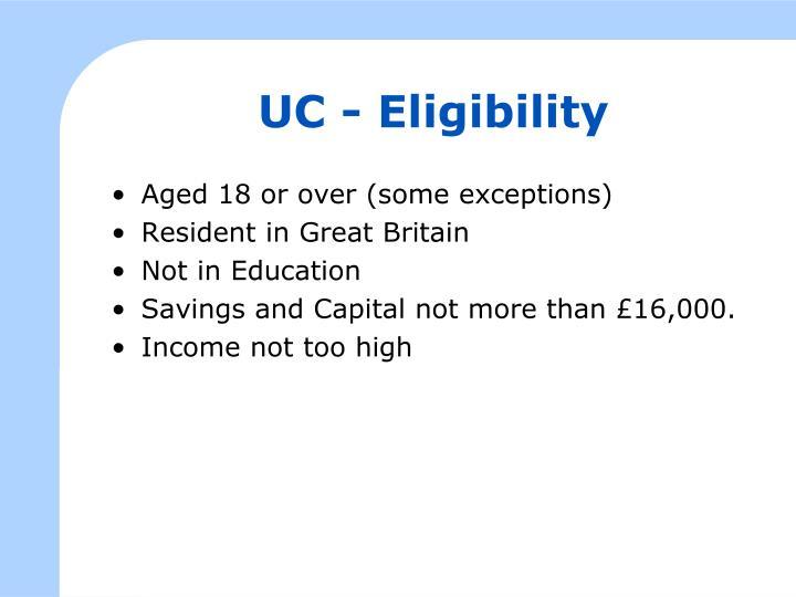 UC - Eligibility