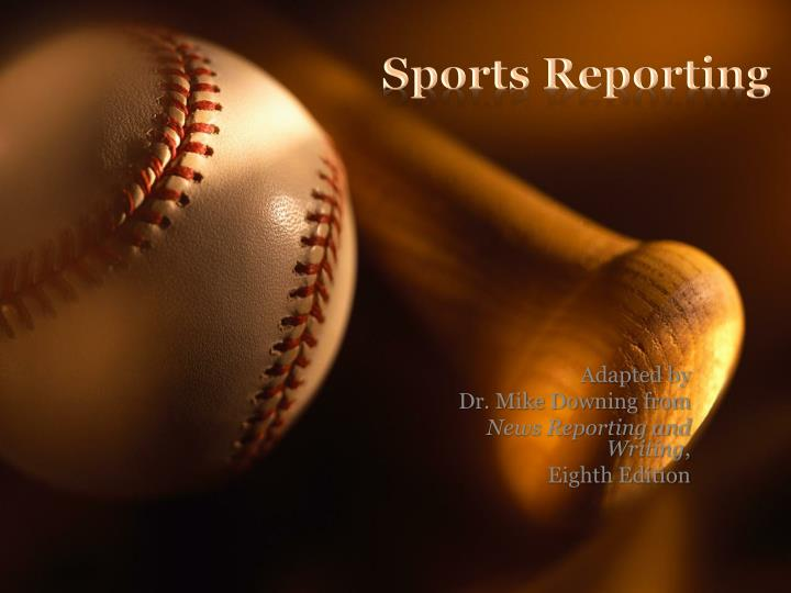 sports reporting n.