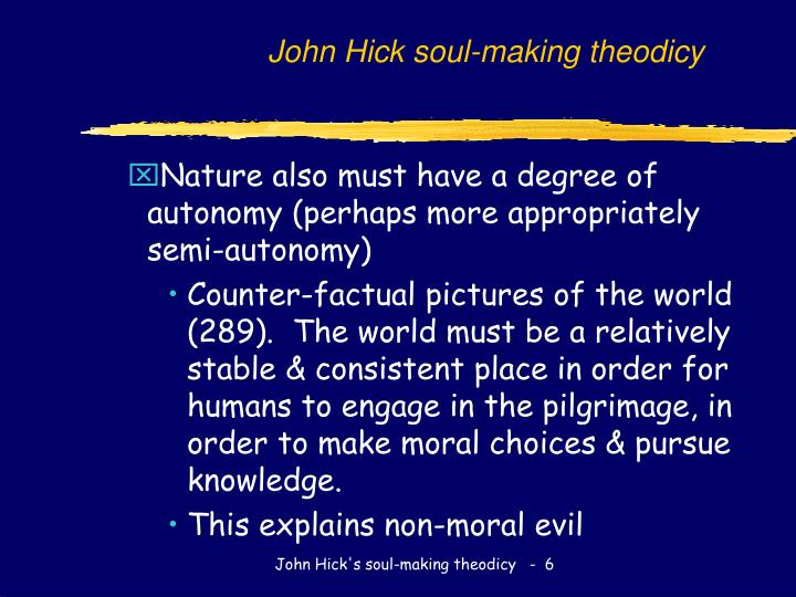 John Hick soul-making theodicy