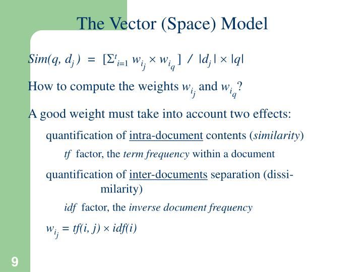 The Vector (Space) Model